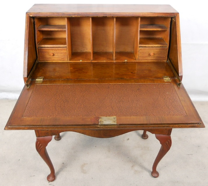 - Antique Queen Anne Style Walnut Writing Bureau Desk - SOLD
